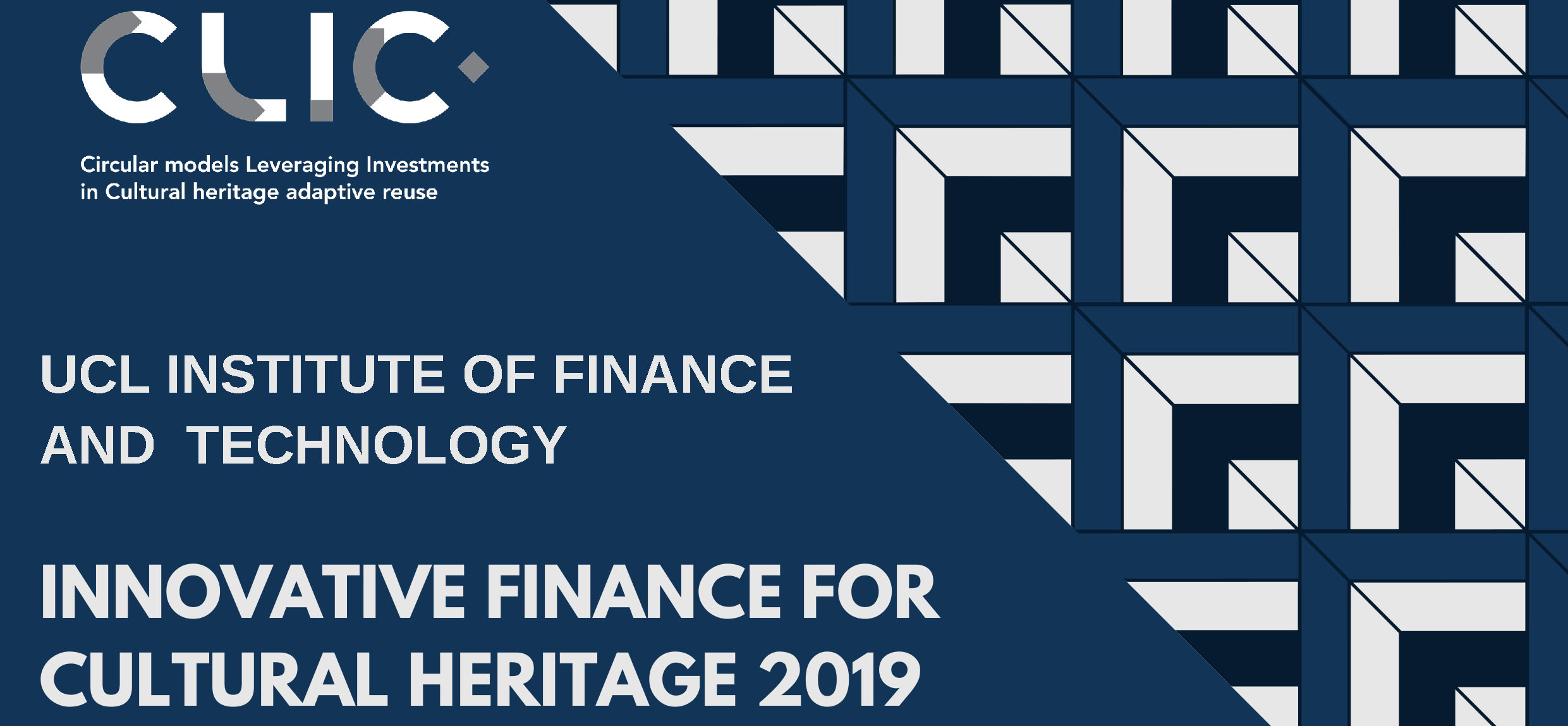 "CLIC LabT ""Symposium on Innovative Finance for Cultural Heritage 2019"""