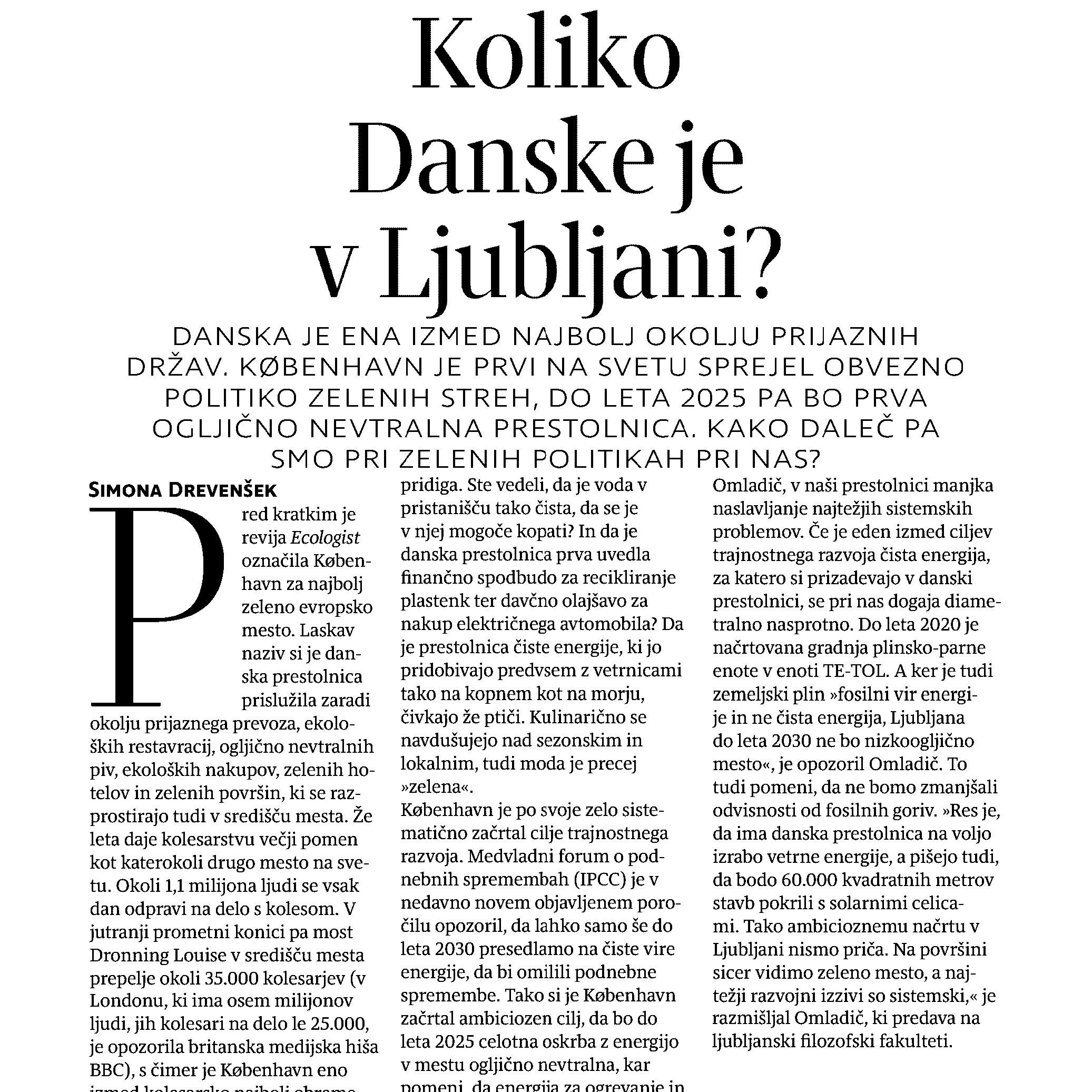 Koliko Danske je v Ljubljani?