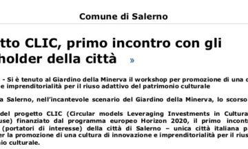 Progetto CLIC, primo incontro con gli stakeholder della città