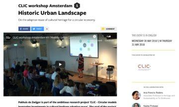 CLIC workshop Amsterdam 1 Historic Urban Landscape