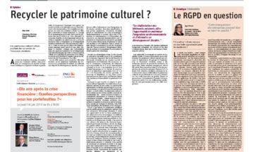 Recycler le patrimoine culturel ?