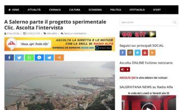 A Salerno parte il progetto sperimentale Clic. Ascolta l'intervista