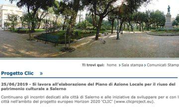 Si lavora all'elaborazione del Piano di Azione Locale per il riuso del patrimonio culturale a Salerno