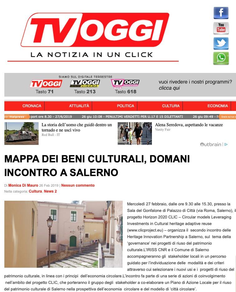 Mappa dei Beni Culturali, domani incontro a Salerno