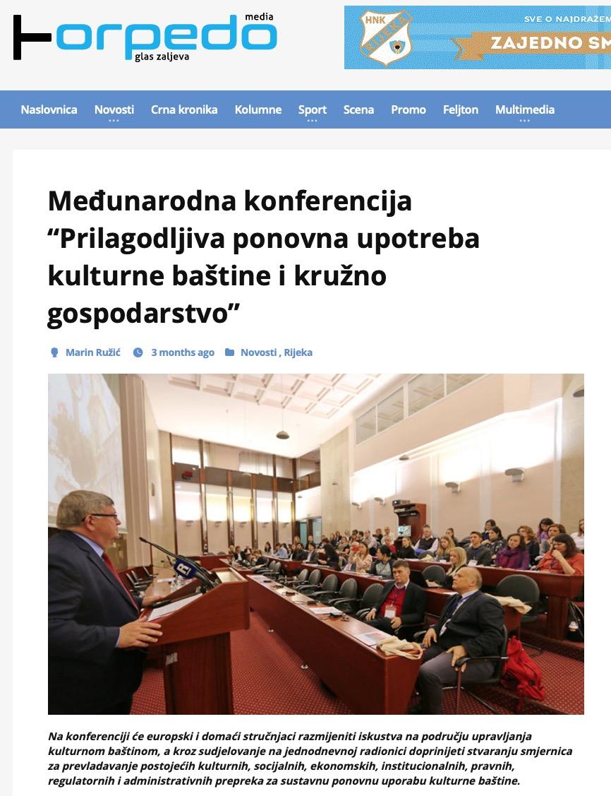 """Međunarodna konferencija """"Prilagodljiva ponovna upotreba kulturne baštine i kružno gospodarstvo"""""""