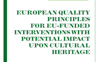 European Quality principles for EU-funded interventions with potential impact upon Cultural Heritage