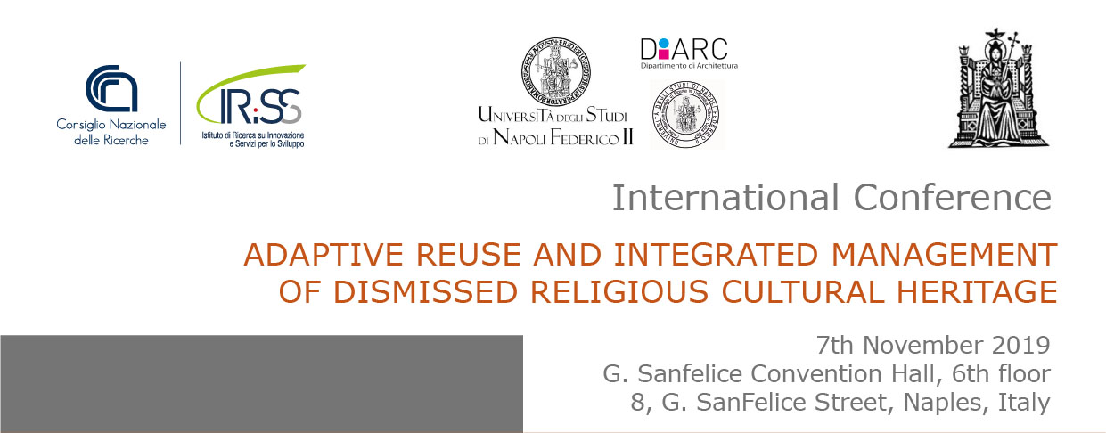"International Conference on ""Adaptive reuse and integrated management of dismissed religious cultural heritage"""