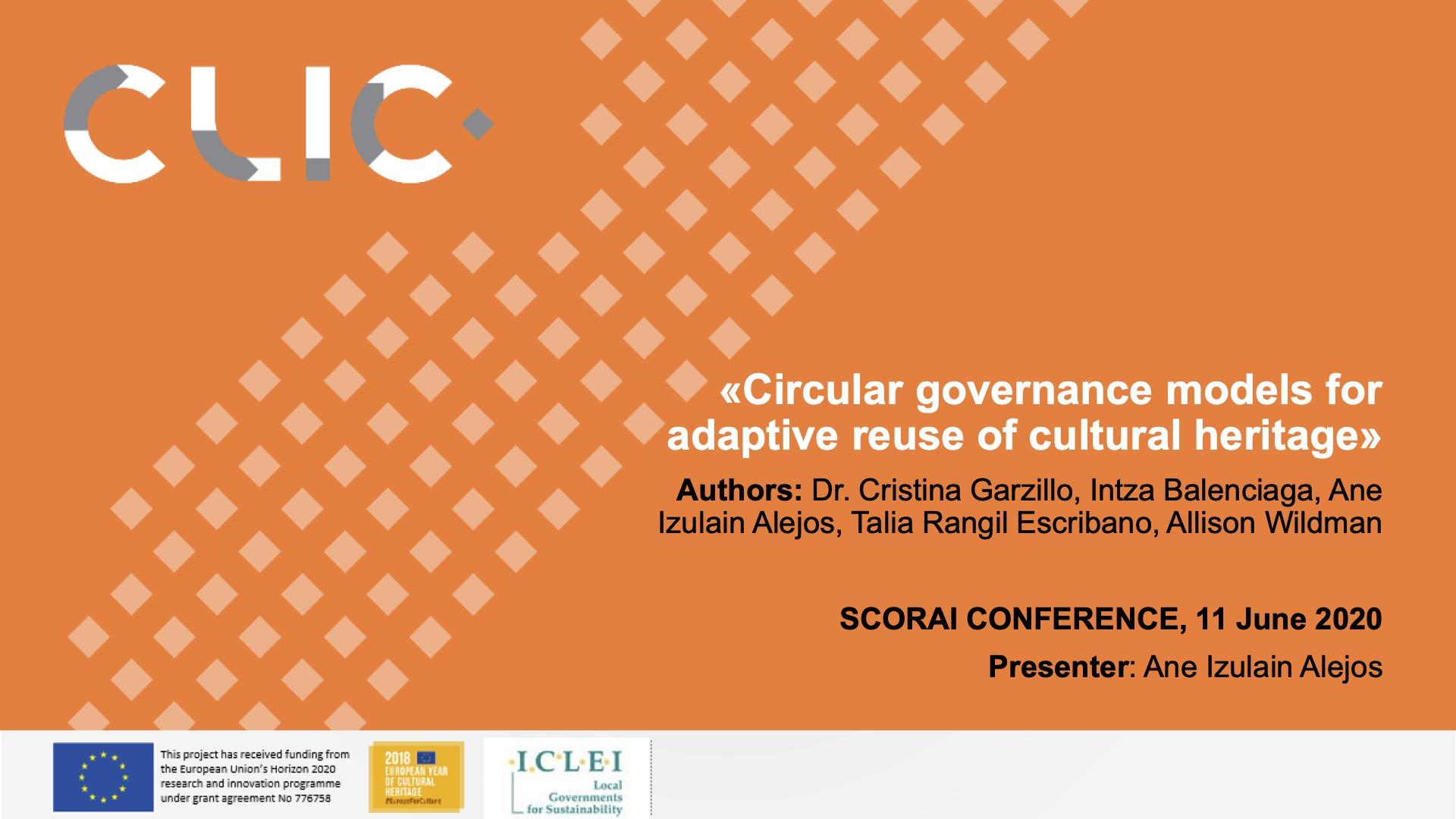 CLIC participation at SCORAI Conference
