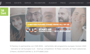 012 Factory – CLIC Startup Competition