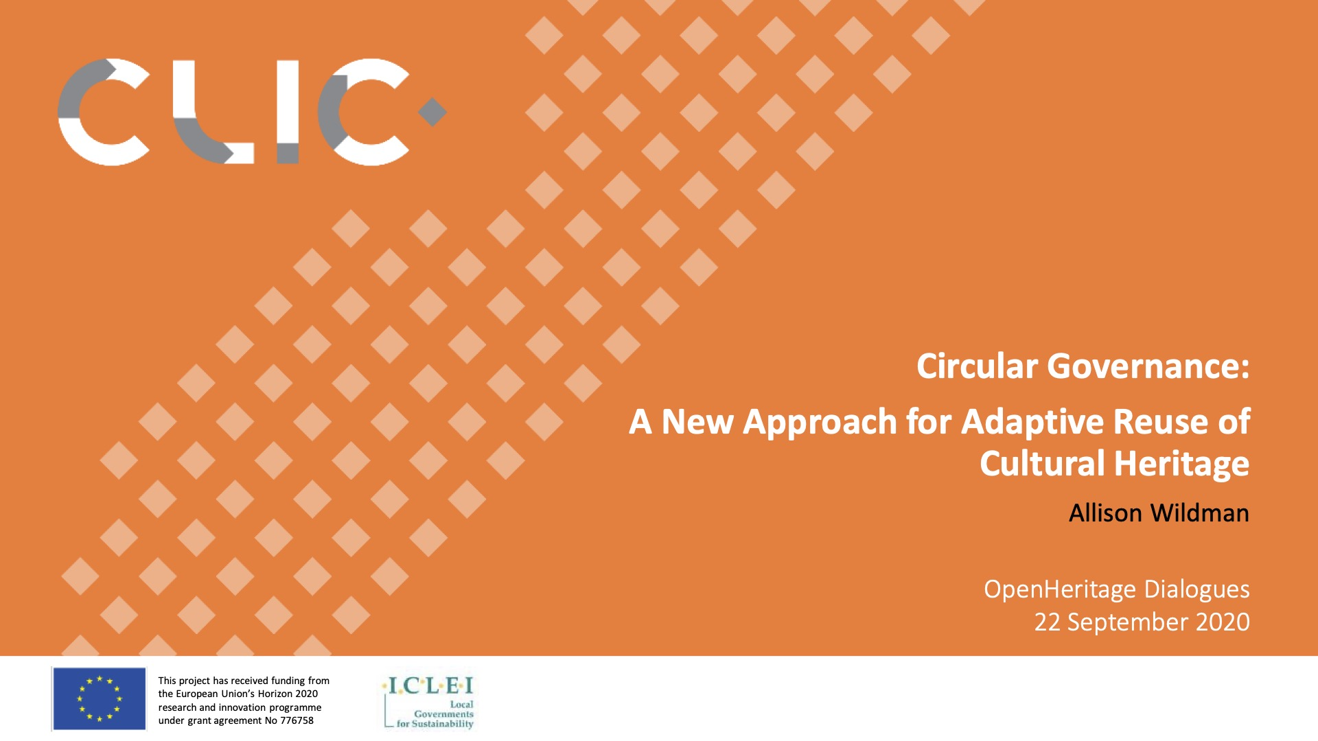 CLIC participation at Open Heritage First Dialogue