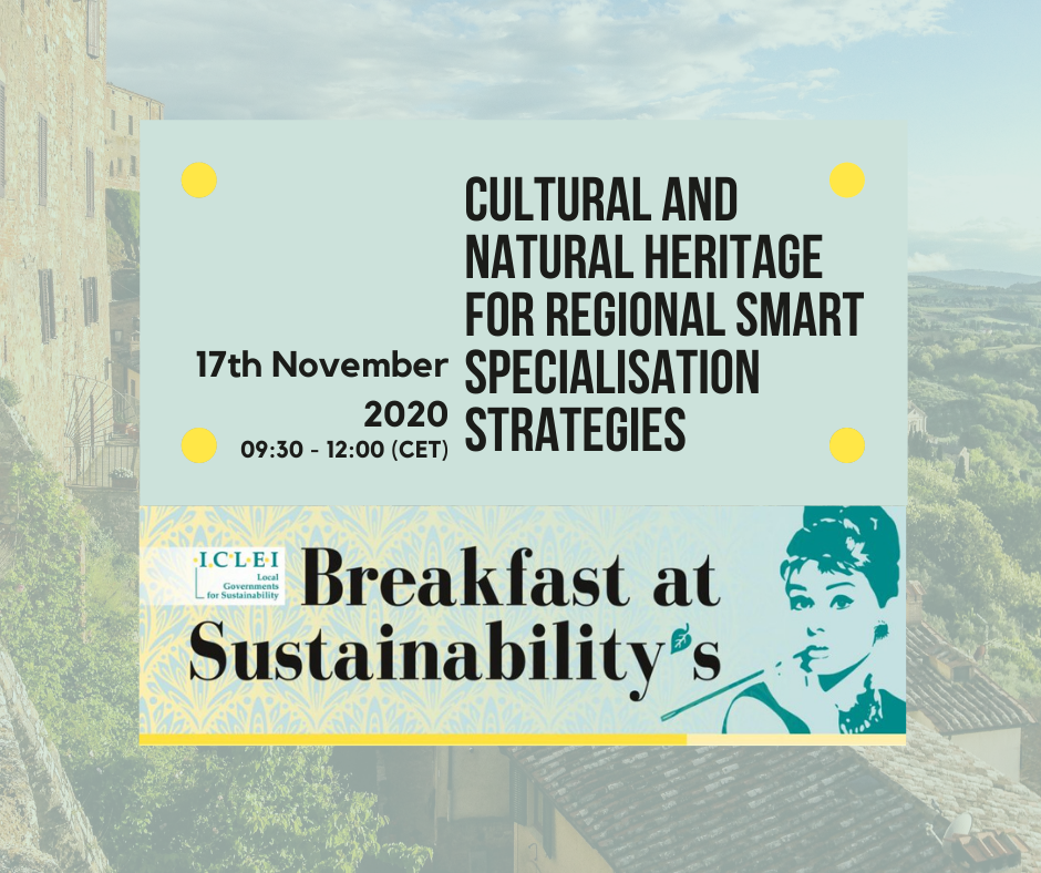 35th Breakfast@Sustainability's Cultural and Natural Heritage for regional Smart Specialisation Strategies (RIS3)