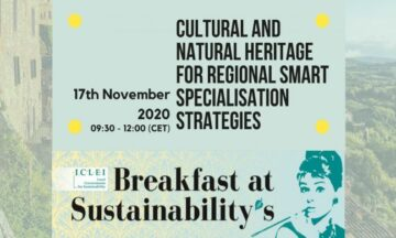 CLIC participation at 35th Breakfast@Sustainability's on Cultural and Natural Heritage for regional Smart Specialisation Strategies (RIS3)