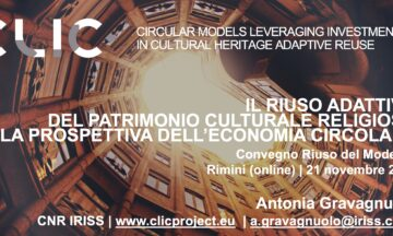"""CLIC Participation to the seminars """"Riuso del Moderno, 2.  Rimini – Dismissione e riuso dei luoghi di culto"""""""