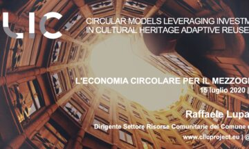 """CLIC Participation at the webinar """"L'economia circolare per un 'nuovo' sviluppo del mezzogiorno: il ruolo delle citta' come 'laboratori' del cambiamento"""""""