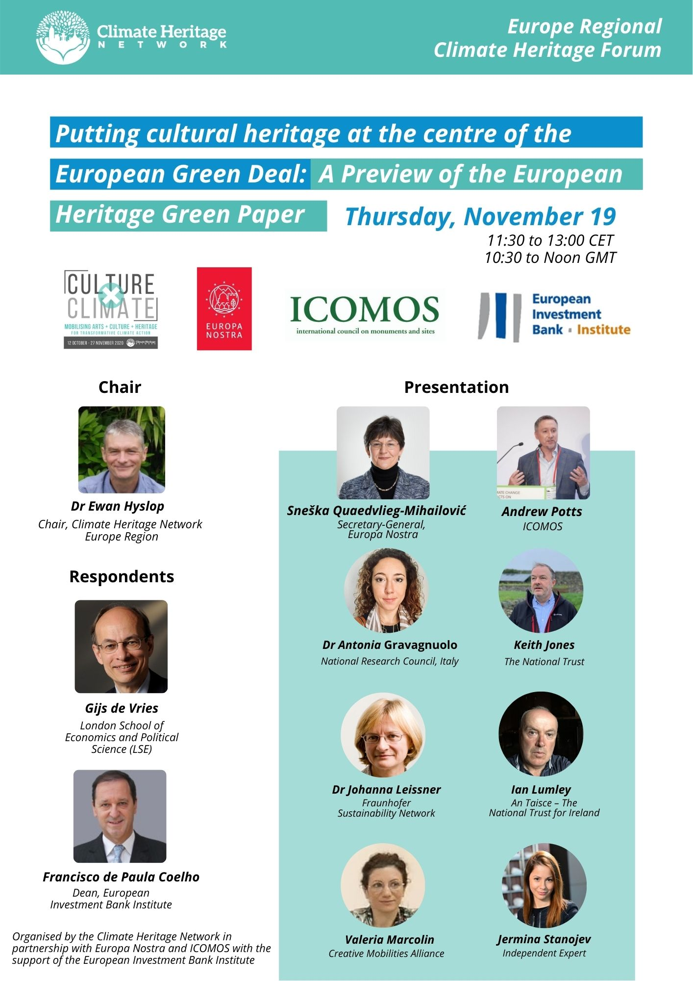 European Regional Climate Heritage Forum – Putting Cultural Heritage at the Centre of the European Green Deal: A Preview of the European Heritage Green Paper